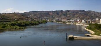 Панорамное песо da Regua Португалия ландшафта Стоковая Фотография