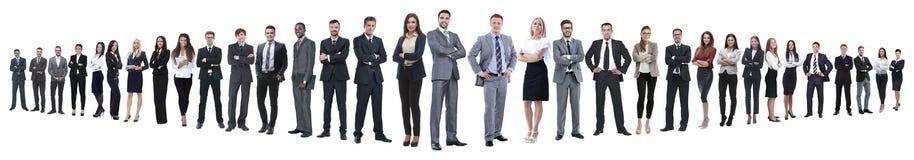 Панорамное фото группы в составе уверенные бизнесмены стоковое изображение