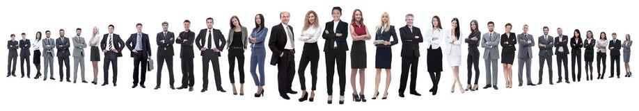 Панорамное фото группы в составе уверенные бизнесмены стоковые фотографии rf