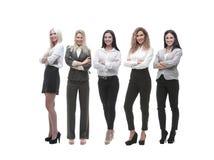 Панорамное фото команды крупного бизнеса стоя совместно стоковые фотографии rf