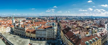 Панорамное фото Праги от колокольни St Nicholas Стоковые Фото