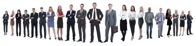 Панорамное фото профессиональной многочисленной команды дела стоковые фотографии rf