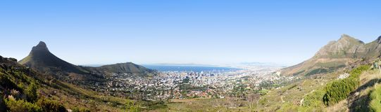 Панорамное Cape Town Стоковые Изображения