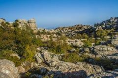 Панорамное Torcal de Antequera 2 Стоковые Изображения RF