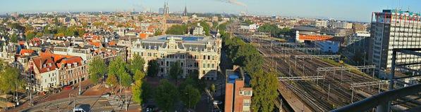 Панорамно взгляд Амстердама Стоковое Изображение RF