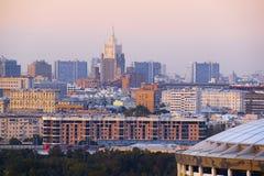 Панорамные взгляды города Москвы Стоковое Изображение RF