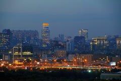 Панорамные взгляды города Москвы Стоковое Изображение