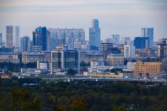 Панорамные взгляды города Москвы Стоковое Фото