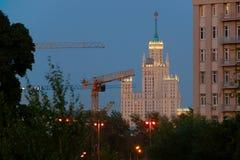 Панорамные взгляды города Москвы Стоковая Фотография