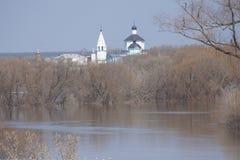 Панорамные взгляды над расслоиной реки Стоковые Фотографии RF