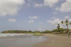 Панорамные взгляды пляжа стоковое изображение rf