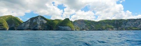 Панорамные взгляды скал острова Стоковая Фотография RF