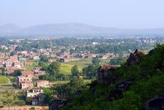 Панорамные взгляды  r Индии BihÄ Стоковые Фото