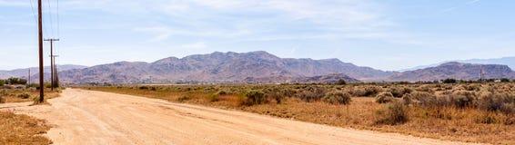 Панорамные горы пустыни в славном дне Стоковые Фото