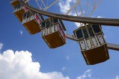 Панорамные колесо и кабины (ferris) Стоковое Изображение