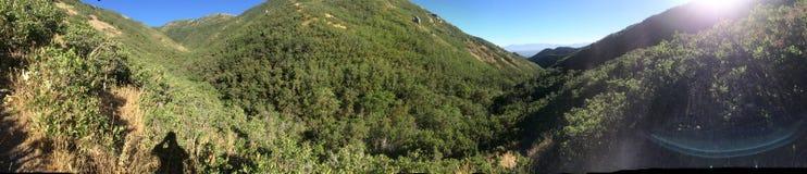Панорамные холмы горы стоковое изображение