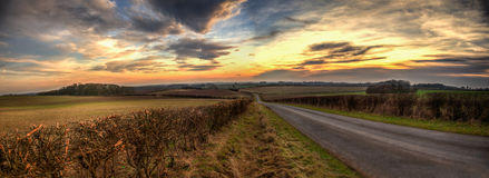 Панорамные Wolds Стоковое Фото