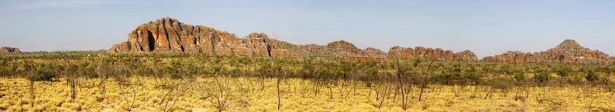 Панорамный австралийский ландшафт с геологохимической характеристикой rollin Стоковая Фотография