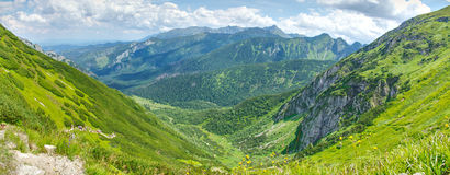 Панорамный ландшафт в горах Tatra Стоковое фото RF