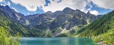 Панорамный ландшафт в горах Tatra Стоковое Фото