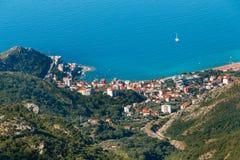 Панорамный ландшафт Budva riviera в Черногории стоковая фотография rf