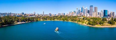 Панорамный взгляд гавани Сиднея Стоковая Фотография