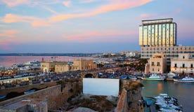 Панорамный взгляд гавани Gallipoli, Италии Стоковые Фотографии RF