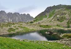 Панорамный взгляд, гора высокое Tatras, Словакия, Европа Стоковая Фотография RF