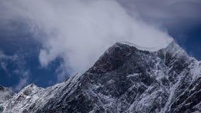 Панорамный взгляд горного пика Стоковое Изображение RF