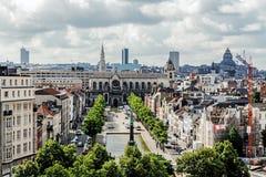 Панорамный взгляд города Брюсселя Стоковая Фотография