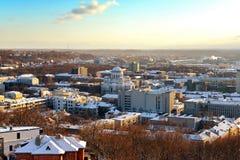 Панорамный взгляд города Каунаса Стоковая Фотография