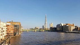 Панорамный взгляд города Лондона стоковое фото rf