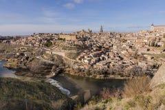 Панорамный взгляд города Toledo Испании стоковая фотография rf