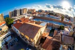Панорамный взгляд городка Лимасола старого Кипр стоковое изображение