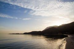 Панорамный взгляд залива Акабы, Красного Моря Стоковая Фотография