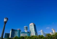 Панорамный взгляд известного городка Ниагары, Онтарио, Канада стоковое изображение rf