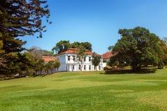 Панорамный взгляд королевского ботанического короля Сада и музея, Peradeniya, Шри-Ланки стоковое фото rf