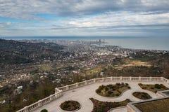 Панорамный взгляд к городу Батуми, Georgia Стоковые Изображения RF
