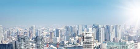 Панорамный взгляд к токио, Япония от воздуха стоковая фотография rf