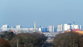 Панорамный взгляд Лейпцига Стоковое Фото