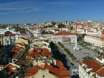 Панорамный взгляд Лиссабона стоковое фото