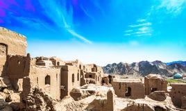 Панорамный взгляд над город-привидением Kharanaq в Иране Стоковое Изображение RF