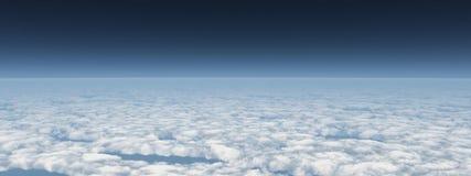 Панорамный взгляд над облаками Стоковые Фотографии RF