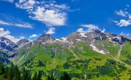 Панорамный взгляд на леднике Grossglockner Pasterze Стоковое Изображение