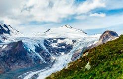 Панорамный взгляд на леднике Grossglockner Pasterze Стоковая Фотография RF