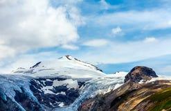 Панорамный взгляд на леднике Grossglockner Pasterze Стоковое Фото
