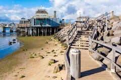 Панорамный взгляд на линии побережья стоковые фотографии rf
