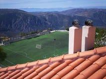 панорамный взгляд на тангаже в середине плато стоковая фотография