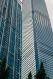 Панорамный взгляд небоскребов Гонконга Стоковое Фото