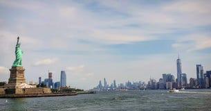Панорамный взгляд Нью-Йорк стоковые изображения rf